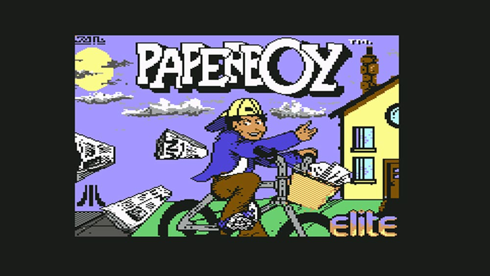 Paperboy-©-1984-Mindscape,Elite,-Atari-Games-Corporation