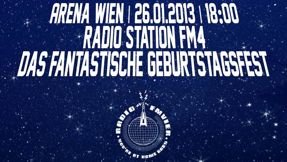 Konzertvorschau: FM4 Geburtstagsfest 2013