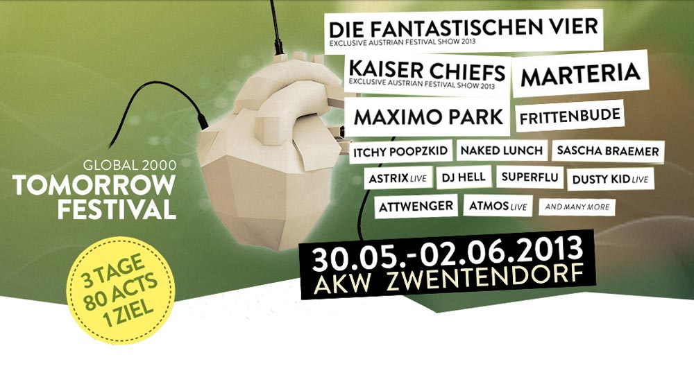Tomorrow Festival 2013: Green-Event von Global 2000
