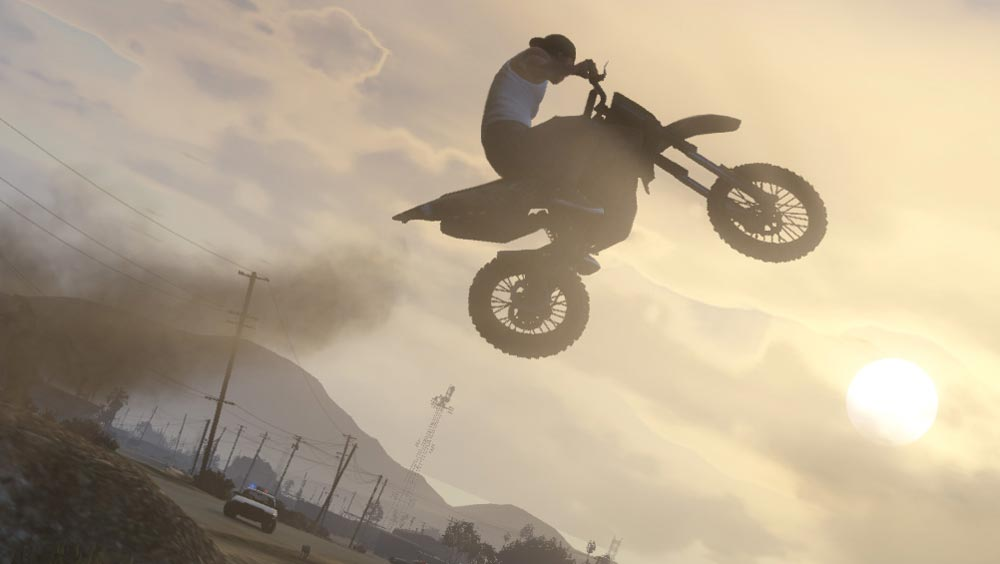 Clip des Tages: GTA V Stunt-Bike Insanity