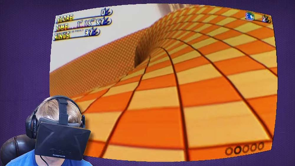 Clip des Tages: Sonic the Hedgehog goes Oculus Rift (First Person View)